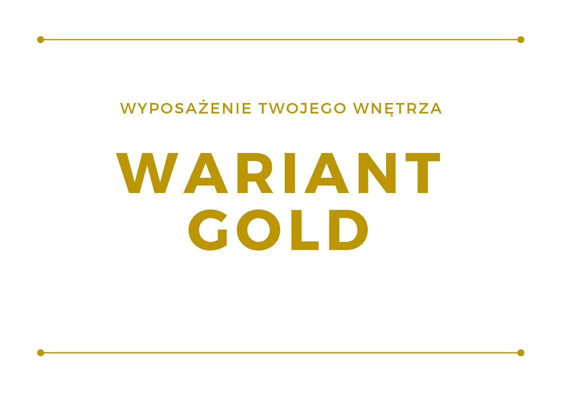 Wyposażenie wnętrza - wariant Gold