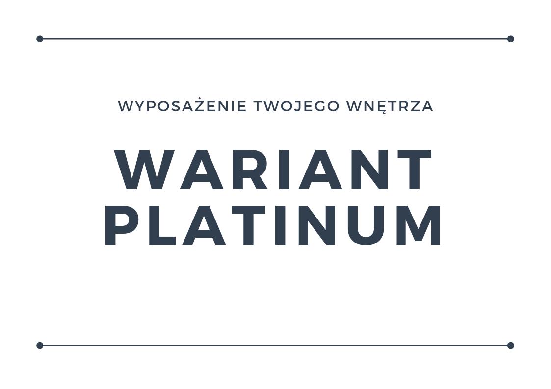 Wyposażenie wnętrza - wariant platinum